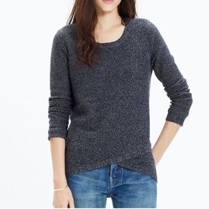 Madewell Feature Pullover Sweater Gray